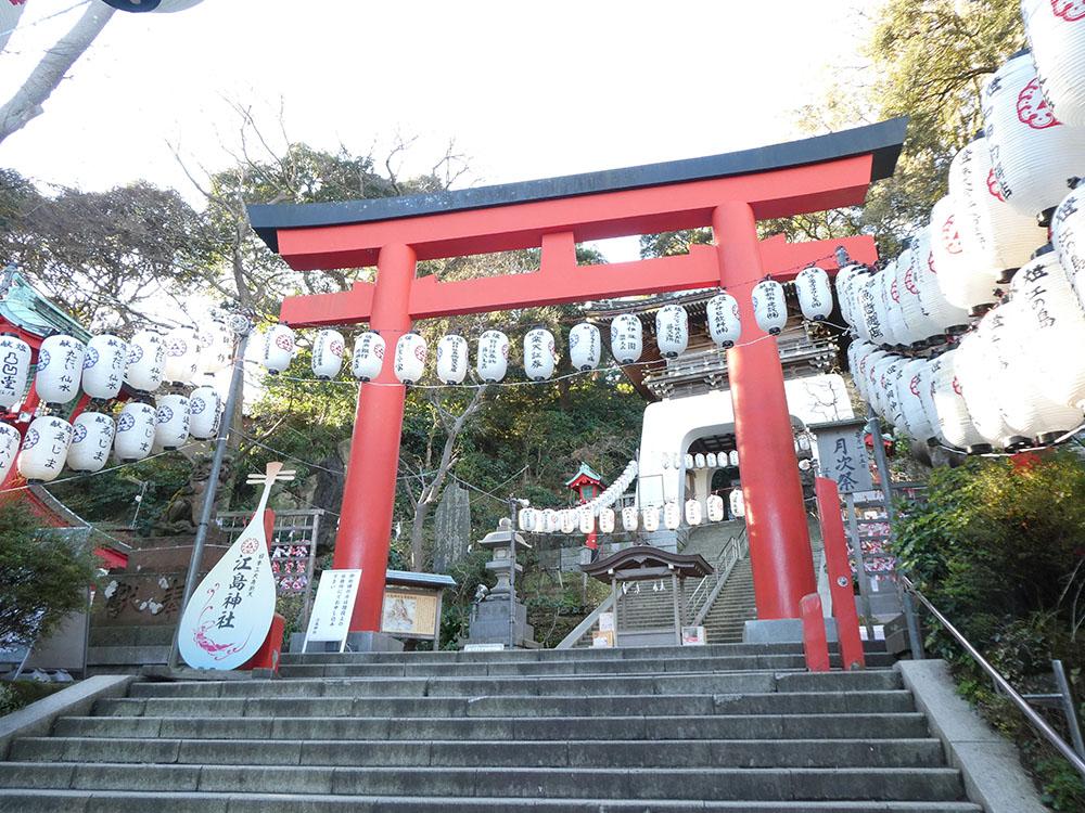 「刀使ノ巫女」江島神社(朱の鳥居).JPG