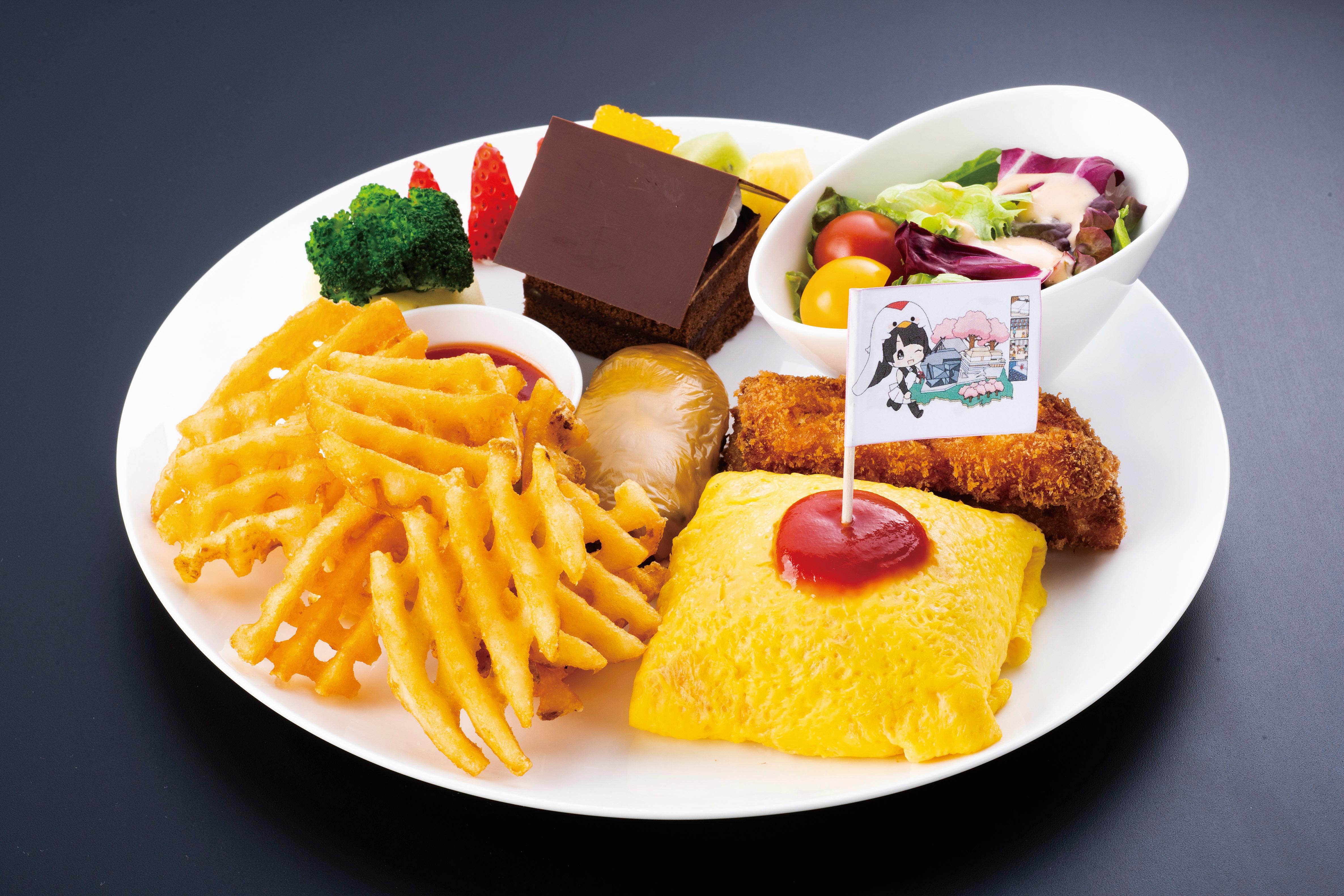 ところざわサクラタウンEJアニメホテルのレストランTiamで 協会キャラクター「じゅんれいちゃん」コラボメニュー 提供開始