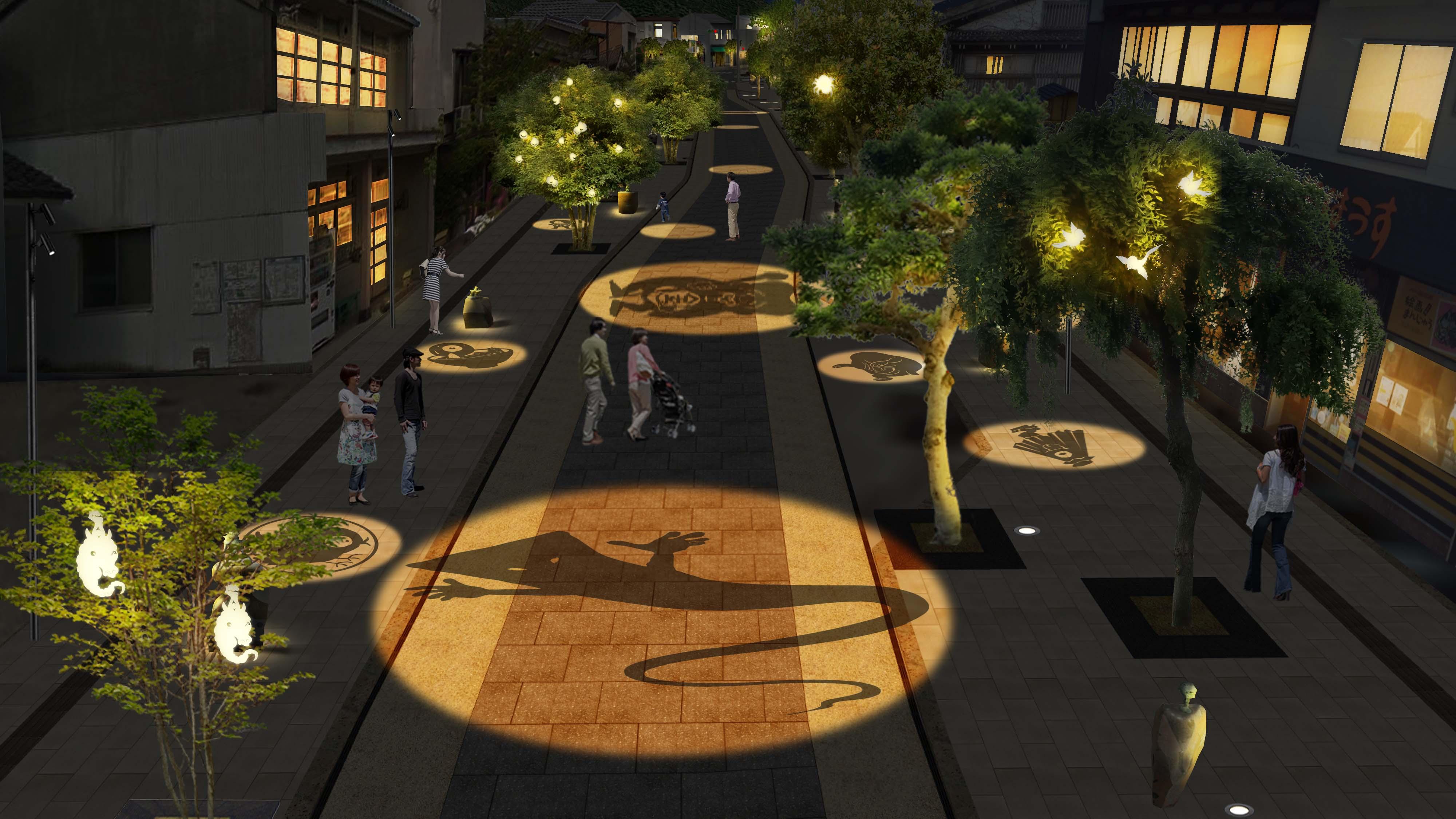 夜は妖怪のライトアップで恐怖が倍増!? 鳥取県の「水木しげるロード」がリニューアル